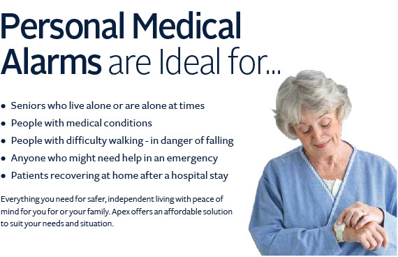Personal medical alarms are ideal for seniors who live alone