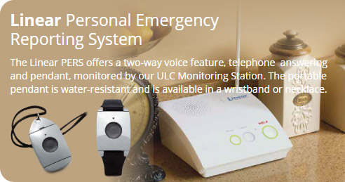 Linear personal emergency reporting system